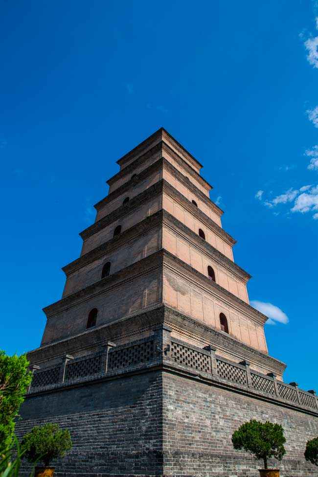 Xi'an is also famous for its pagodas, especially for the Big Wild Goose pagoda.